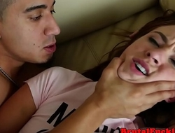 Petite teen roughfucked and facialized