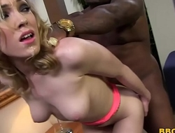 Lily LaBeau Deepthroats Black Cock Before Anal Fucking