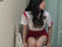Japanese Upskirt Panty and Breasts from Under the Desk