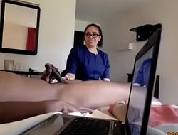 Flashing dick to maid and then she fuck him