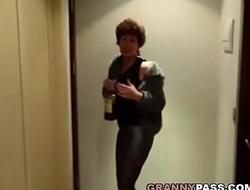 Tipsy Granny Sucks Cock