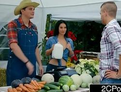 Farmer'_s Slutty Wife Eva Lovia Cheating With A Random Customer