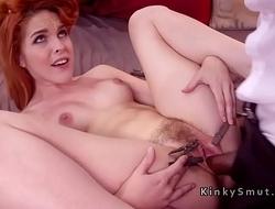 Redhead got pinched cunt banged