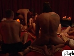 Horny swingers swap partners and orgy