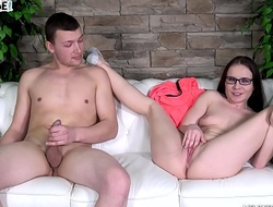 Wendy Moon had time only for one jump on cock before cum in her pussy