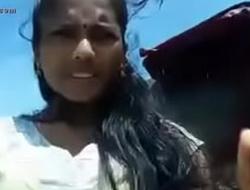 Indian teen outdoor in salwar