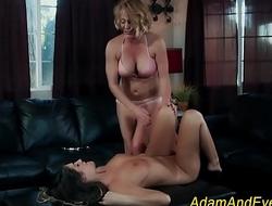 Lesbian babe gets eaten