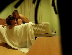 Spy camera filming fucking between a couple on a bed CRI190