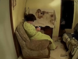 He puts a hidden camera to record his wife while he eats her pussy CRI132