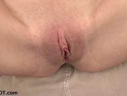 Skinny cock tease girlfriend gets wet as I masturbate