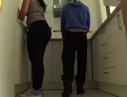 They decide to fuck and masturbate in the kitchen IV 017