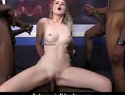 Girl gets punished by a huge black cock 21