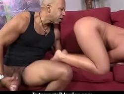 Girl gets punished by a huge black cock 16