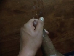 Huge massive cumshot load coming out from my big dick