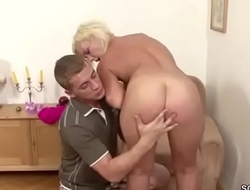 Young Boy Seduce Hairy Step-Mom to Get First Fuck