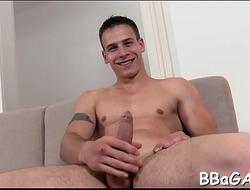 Homosexual porn giving a kiss