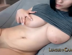 Busty Stay at Home Mom makes Money Squirting