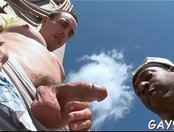 Sexy interracial hunk sex