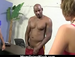 Sexy mom gets a creamy facial after getting pounded by a black dude 6