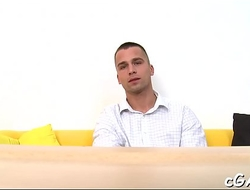Blowjob for gorgeous homosexual stud