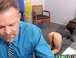 Step Daughter Bambi Brooks Fucks Dad At His Work