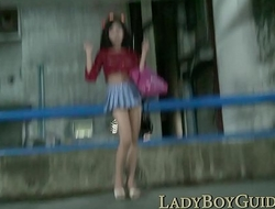 Thai Ladyboy Wanks For Stardom