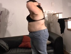 Casting couch of a young fat bbw french slut ass fucked fisted n facial in 3way